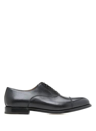 Barrett %100 Deri Bağcıklı Klasik Ayakkabı Siyah